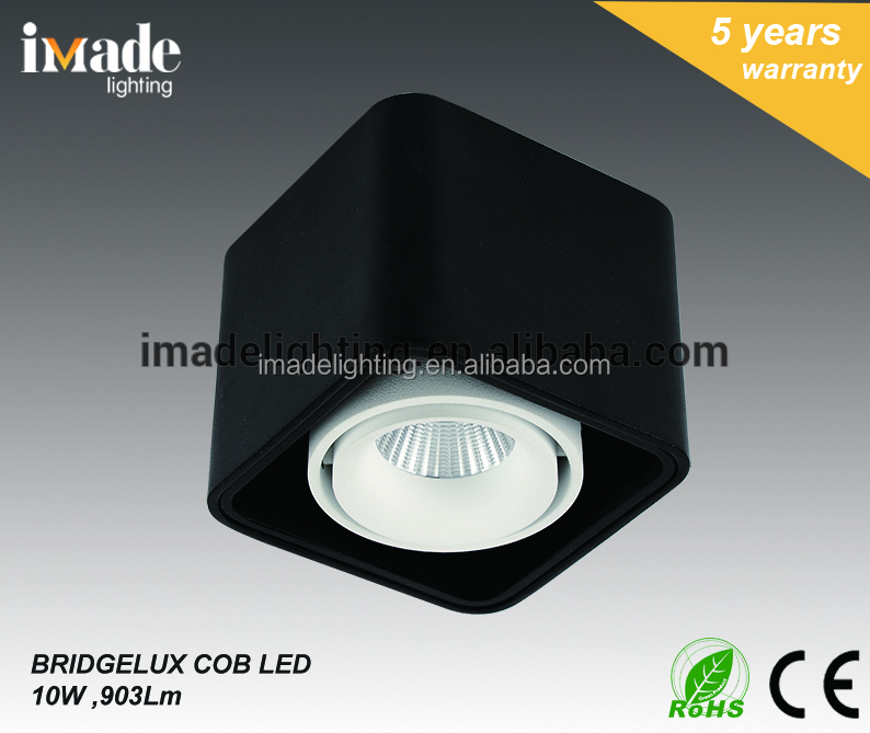 Die Cast Aluminum IP20 Surface Mounted 10W 903Lm COB LED Down Light Ceiling Light