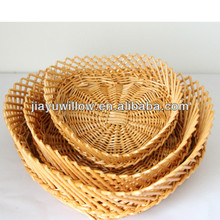 Eco-friendly decorative willow fancy wicker fruit baskets from manufacturer