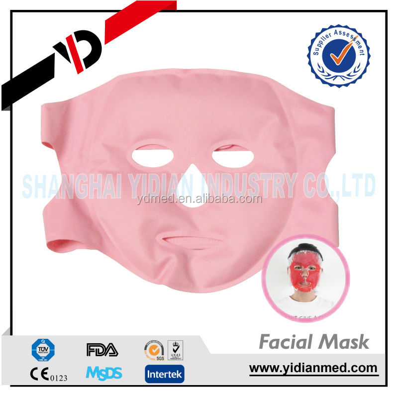 Reusable cold gel pack face mask