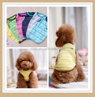 Dog summer stripe clothes, dog tank top, pet clothes for dog apparel