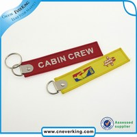 promotional key ring,polyester key chain