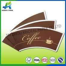 low gsm 3oz safe and no smell pe coated paper cup fan
