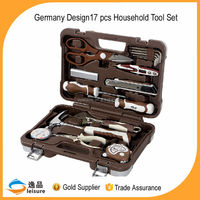 17 pcs germany design hand tool set for home use electrical use in high quality box