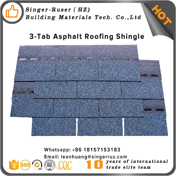 Blue Red roofing shingle IKO Kenya bitumen asphalt roofing shingles