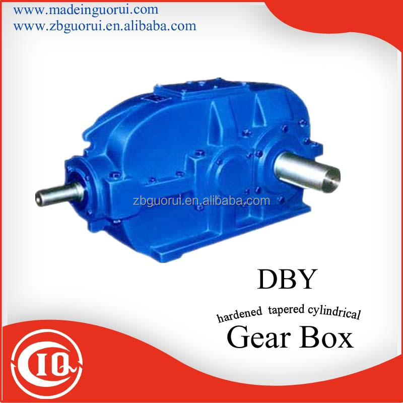 DBY two stage Helical Gear Reducer Foot Mounted 1:10 ratio Gearbox and reducer for plastic mixer