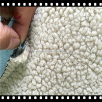 Customized made suede +foam +sherpa fleece for winter hats coats and shoes