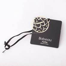 China professional custom wholesale popular hangtag string paper hang tags for clothes