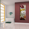Delicate beautiful handmade flower large canvas art painting in hot sale