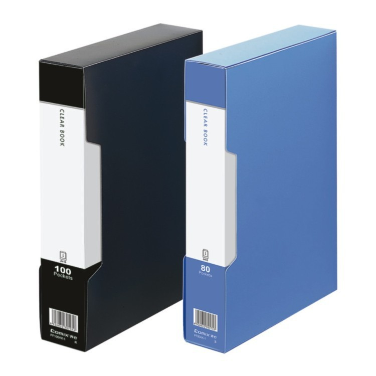 High Quality Office 100 pockets clear book A4 display book with printing