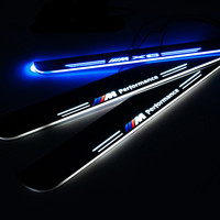 LED 304 Stainless Steel Door Sill Scuff Plate car welcome door for BMW car welcome pedal