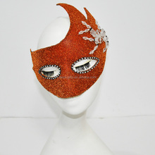 Halloween red make party mask with glitter for Carnival
