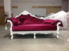 High end quality king style royal carved chaise lounge in white color