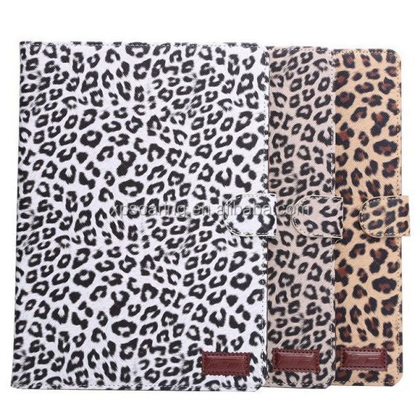 Leopard skin wallet flip case stand leather case for ipad air 2