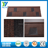 Acrylic coated villa shingle stone chip steel roof tile