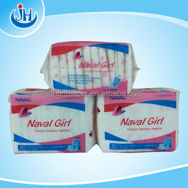 Super Absorbent Wings sanitary pad naval girl with cool feeling blue chip