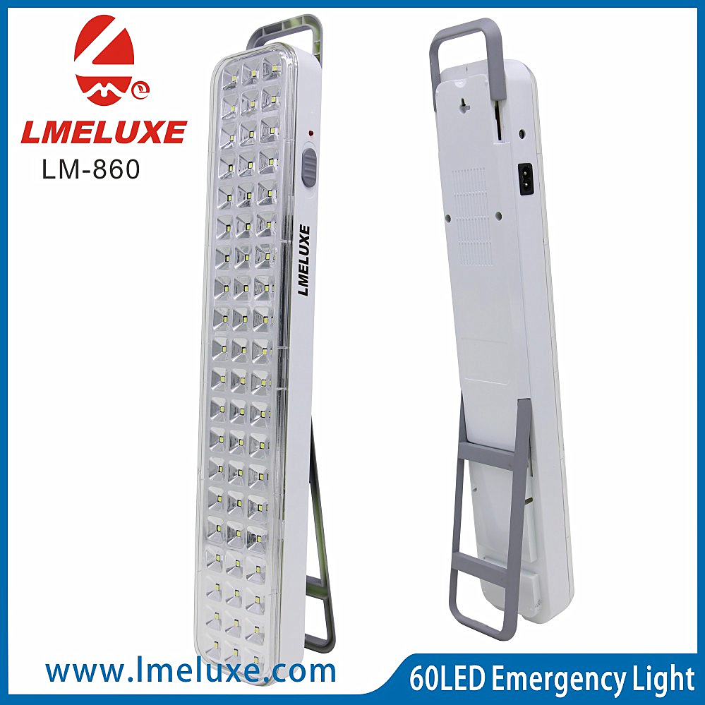60 LED Rechargeable Emergency light with fixed support high brightness Wall Mounted emergency lamp