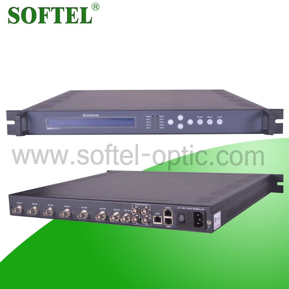 TV broadcasting head-end system DVB-C/S/S2/T/ISDB-T TS multiplexer