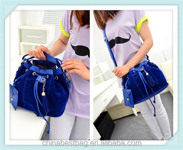 2014 woman shoulder bag tassel shoulder pu bags