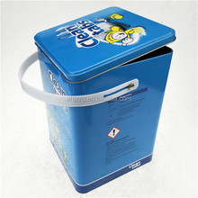 metal packaging tin can with handle