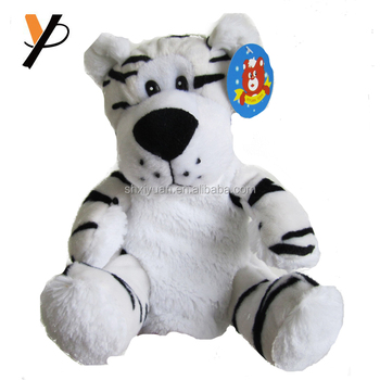Cute making hand puppets plush finger puppet white tiger plush