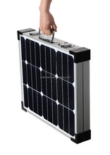 Customized portable pv solar module kit 60w 12V foldable sunpower solar panel