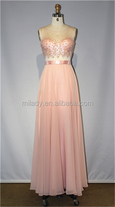 New design beading chiffon prom evening dress