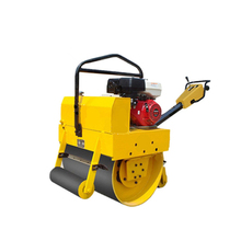 Walk behind small vibrating used road roller