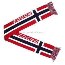 Wholesale Jacquard National Team Norway Sports Fans Scarf Norge Football Scarf
