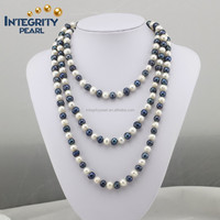 2015 most popular potato freshwater mixed color pearl necklace