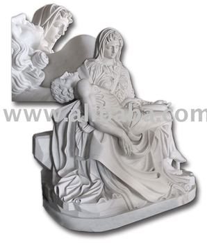 Marble Statue Stone Carving Michelangelo's Pieta
