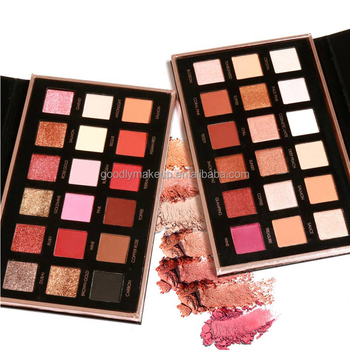 Hot Selling Professional Private Label Shimmer Eeyeshadow Make Up Palette