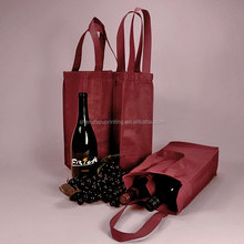 Best sale good quality cheap wholesale custom gift non woven fabric wine bags for packing bottles