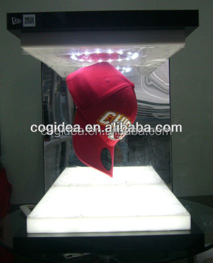 Fashion magnetic levitating floating cap display