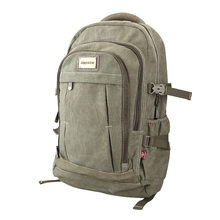 Army Green Canvas Travel Backpack Military Vintage Bags Wholesale