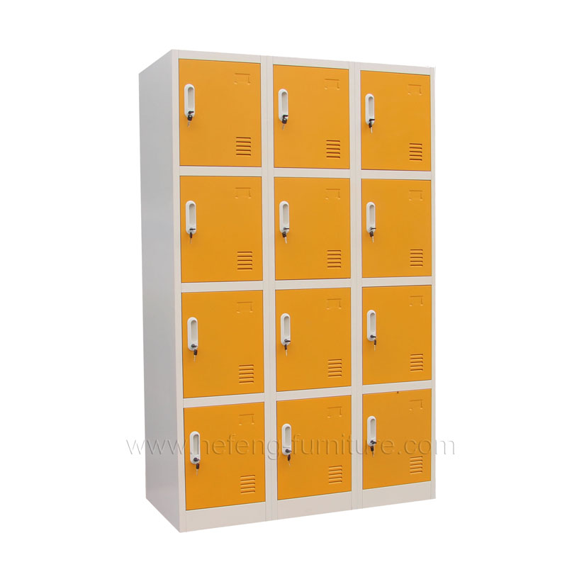 12 Door Steel Sports Vent Lockers Vertical Team Lockers