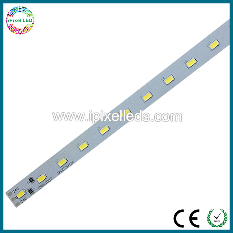 Single row smd 5730 white&warm white led rigid bar,24V led rigid strip