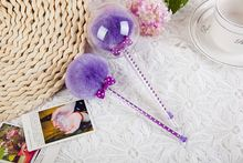 Top selling high quality purple ball shape feather pen with competitive price