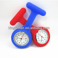 2013 New hot silicone nurse watch silicone rubber nurse watches!! Latest silicone nurse watch with S.steel back(KLB-W150-3)!!