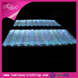 LED lighting fiber optical luminous fabric cloth floral prints nylon spandex swimwear fabric