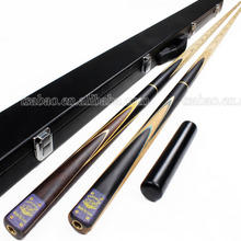 Factory direct sale Ash handmade snooker cues, 3/4 jointed LP billiard cue set