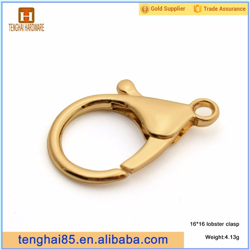 Metal spring hook lobster claw clasps