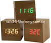 HOT digital clock home decor LED clcok fashion wood clock table clock with high quality