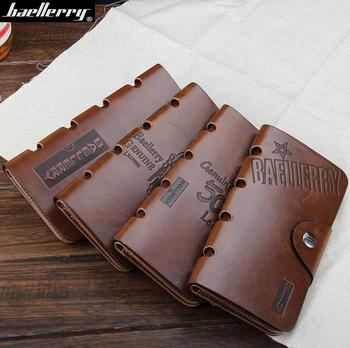 Low price super vintage Men's clutches card holder slim wallet with cowboy
