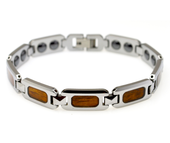 New wood inlay tungsten carbide bracelet magnetic bangles balance energy health care