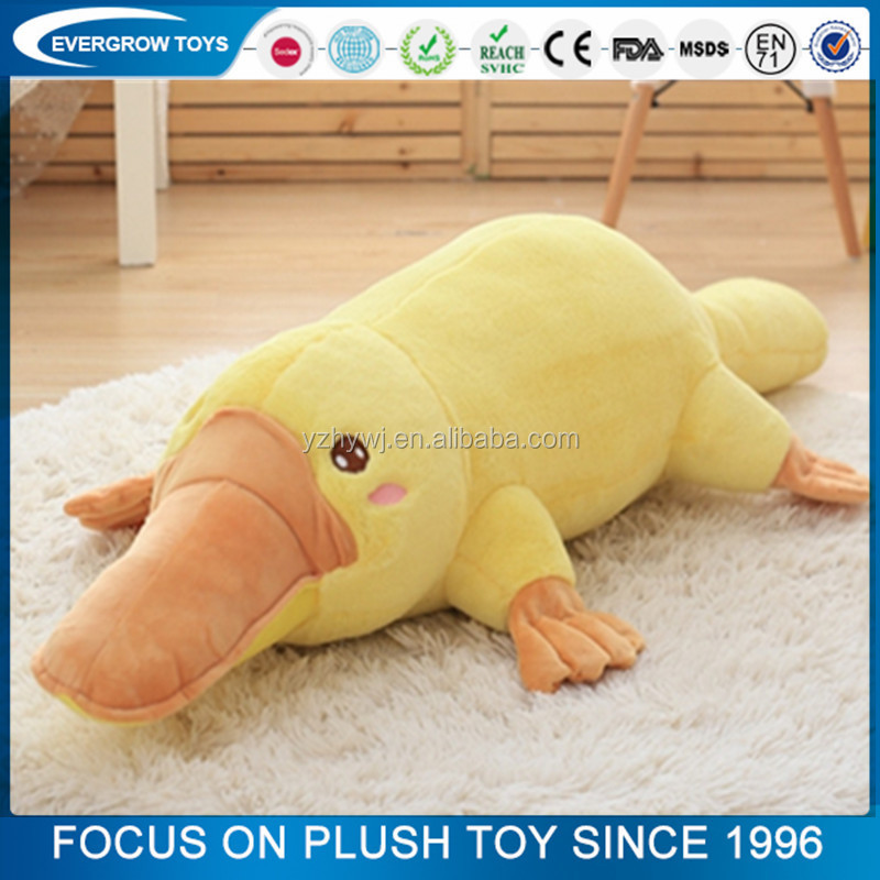 custom high quality yellow duck plush toy cute stuffed platypus toy