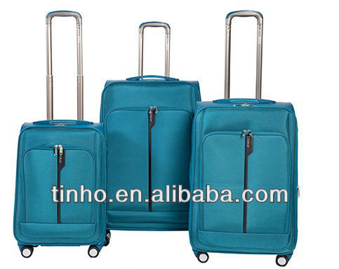 The best compertive price 3pcs/set PP +1680D cheap EVA Fabric Travel luggage from Factory