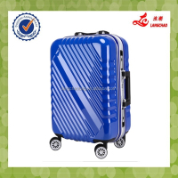 Aluminum Frame Plastic Cover 360-degree Wheels 100% PC Luggage