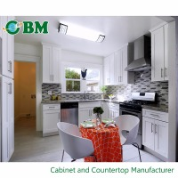 China Factory Supply Simply Design Model Solid Wood Modular Kitchen Cabinet