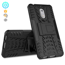 Shock proof belt clip bumper tpu phone cover case for Nokia 6 with stand back