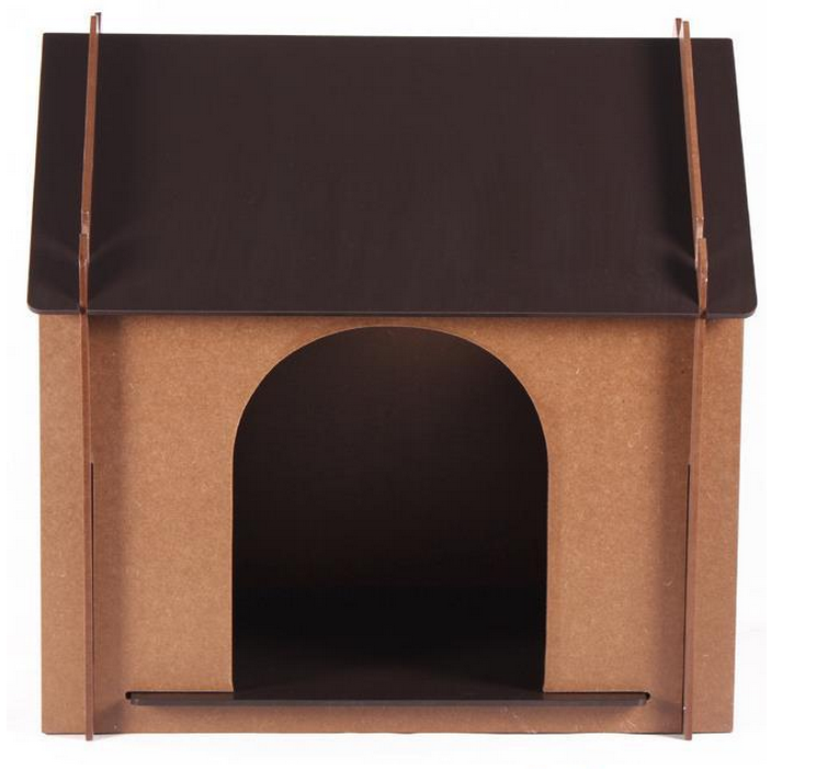Shandong eco-friendly new design finished hanging pine dog house wood for wholesale